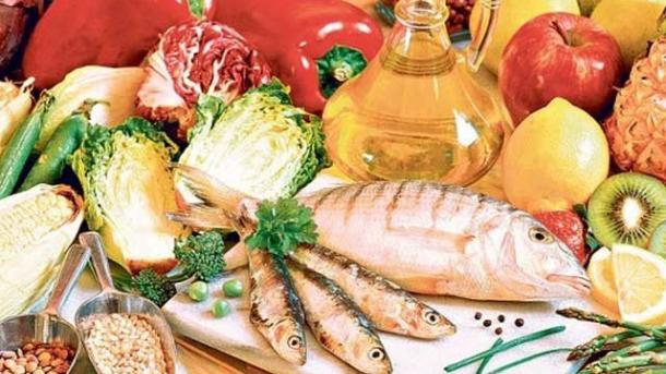 Image result for مچھلی پھل سبزی زیتون