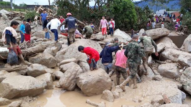 Drama in Kolumbien: Über 100 Tote bei Unwetterkatastrophe