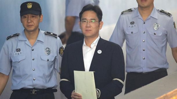 Samsung-Erbe Lee zu fünf Jahren Haft verurteilt