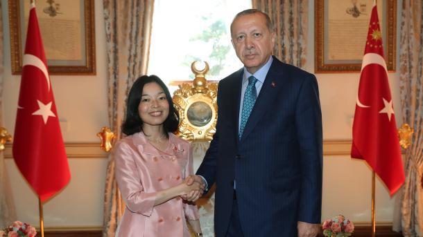Presidenti Erdogan priti në Stamboll Princeshën e Japonisë   TRT  Shqip
