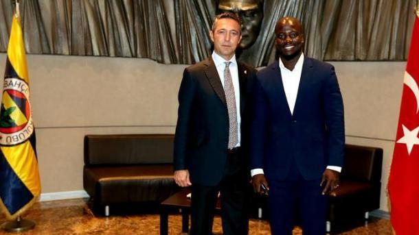 加纳球星拜访费内巴切俱乐部总裁 | 三昻体育