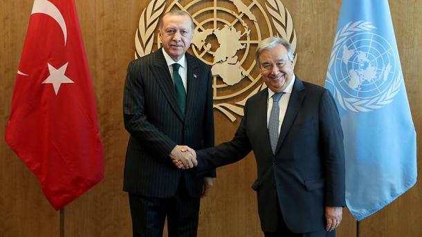 Presidenti Recep Tayyip Erdogan takohet me Sekretarin e Përgjithshëm të OKB-së, Antonio Guterres | TRT  Shqip