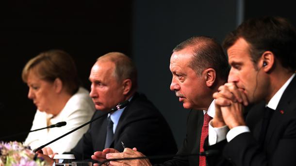 Samiti i Stambollit – Turqia, Rusia, Franca dhe Gjermania synojnë armëpushim të përhershëm në Siri | TRT  Shqip