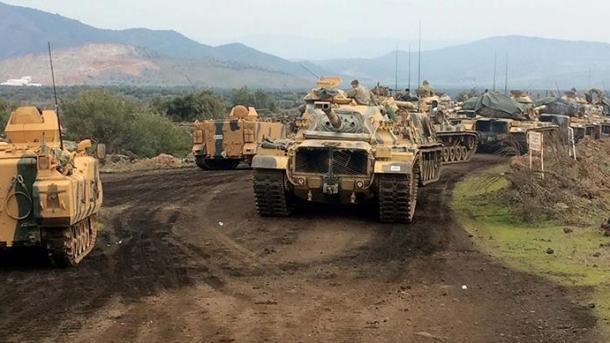 FAT dërguan makina ushtarake në zonën Azez të Sirisë   TRT  Shqip