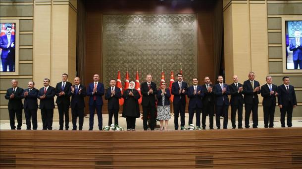 Erdogan publikon kabinetin e parë të qeverisjes presidenciale | TRT  Shqip
