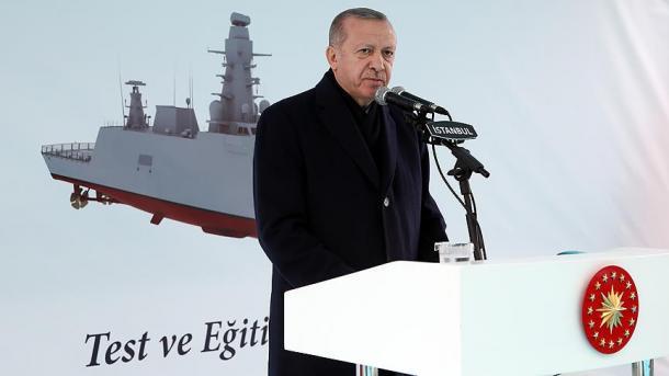 Erdogan pjesëmarrës në inaugurimin e anijes së parë të inteligjencës prodhim turk | TRT  Shqip