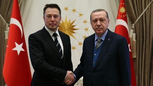 Erdoan pret në Kompleksin Presidencial Elon Musk | TRT  Shqip