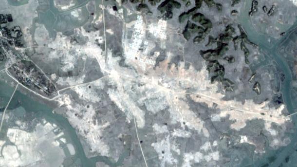 Les villages rohingyas rasés visibles sur images satellite — Birmanie
