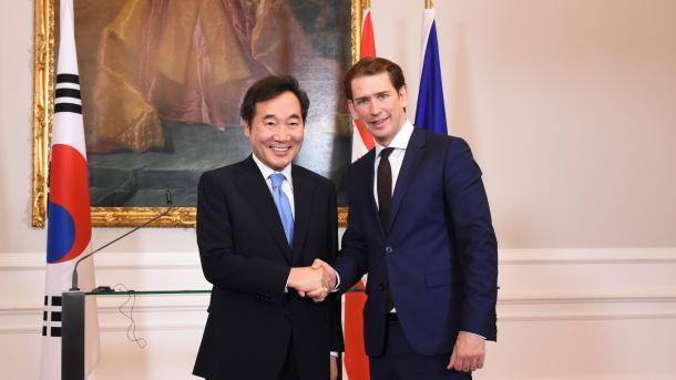 Kurz absolviert mit zwei Ministern Besuch in Südkorea