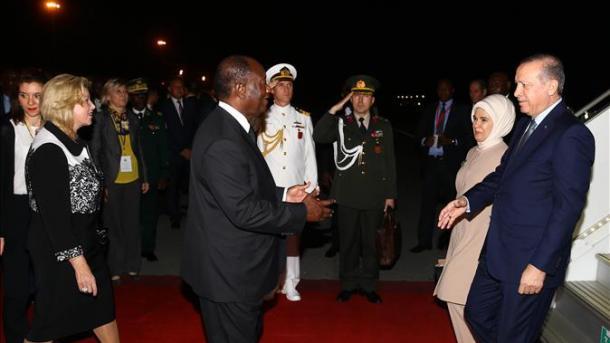 Erdogan entame une visite officielle de deux jours en Côte d'Ivoire