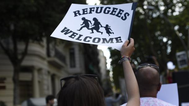 Manifestación en Madrid por los refugiados