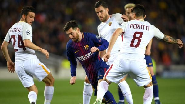 Roma batte 3-0 all'Olimpico Barcelona
