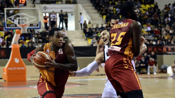 Pertandingan Tim Basket Galatasaray dengan Tim Basket Hapoel