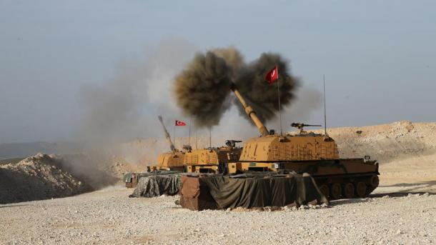 Türkische Truppen kesseln kurdische Stadt Afrin ein