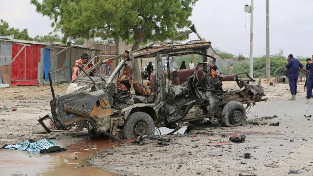 Мощнейший взрыв прогремел встолице Сомали Могадишо