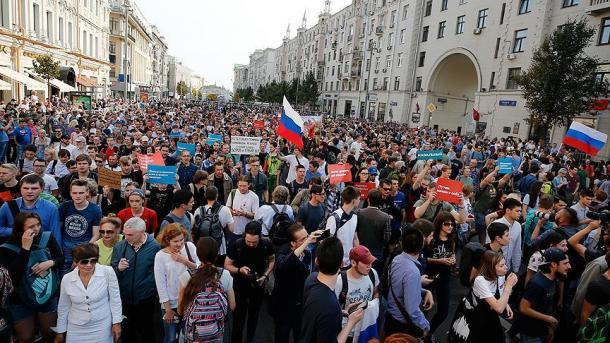 Detienen a opositores a la reforma jubilatoria — Rusia