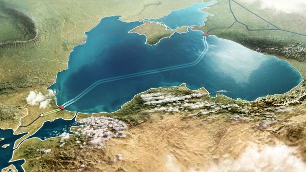 Fillojnë punimet për ndërtimin e impiantit të kalimit të tubacionit Rrjedha Turke nga deti në tokë | TRT  Shqip