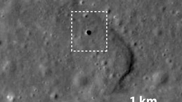 Sonda espacial descubre una cueva gigante en la superficie de la Luna
