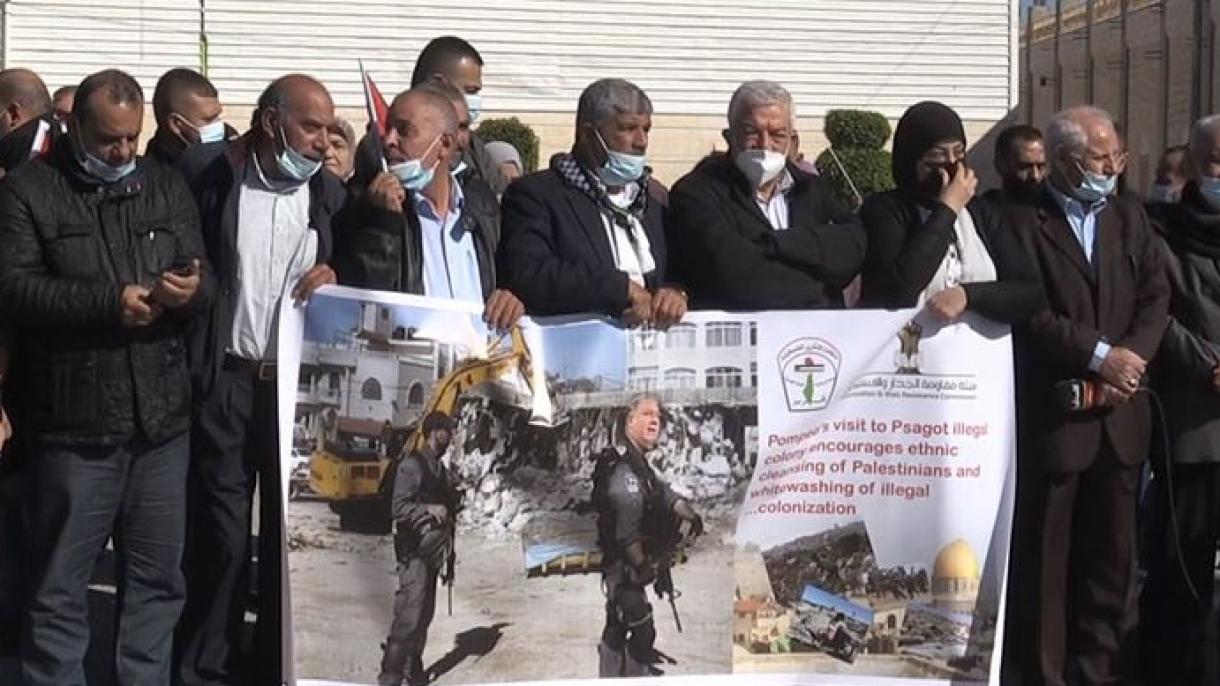 Los palestinos protestan el plan de visita de Mike Pompeo en los colonos judíos