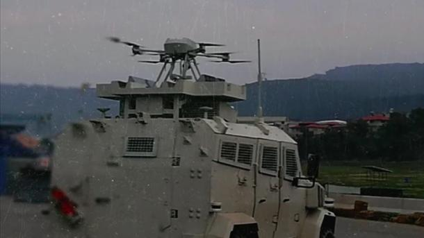 """Droni """"Songar"""" integrohet për herë të parë në një automjet tokësor ushtarak të blinduar   TRT  Shqip"""