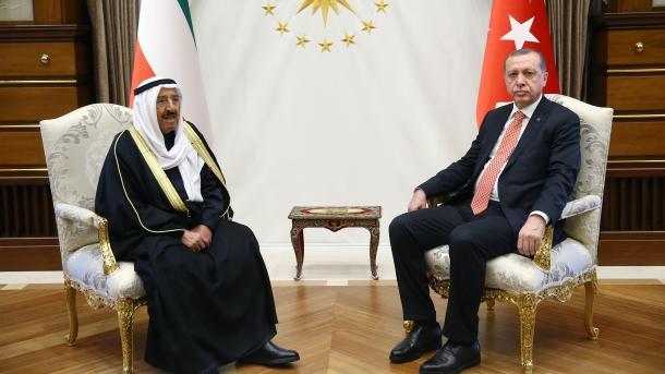 Presidenti Erdoan bisedoi me Emirin e Kuvajtit, es-Sabah | TRT  Shqip