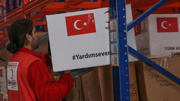 Turqia dërgon ndihma ushqimore për personat me aftësi të kufizuara në nevojë në Jemen   TRT  Shqip