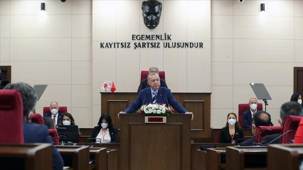 Erdogan siguron Qipron e Veriut për mbështetjen e patundur të Turqisë | TRT  Shqip
