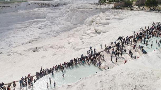 Mbi 1 milion turistë në Pamukala gjatë periudhës qershor-gusht 2019   TRT  Shqip