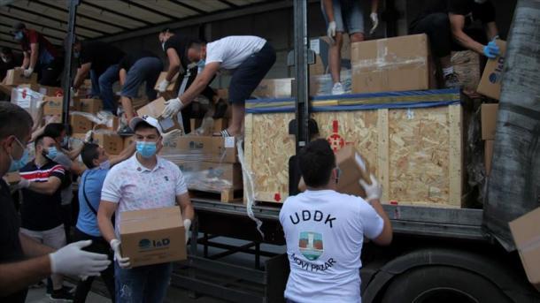 Serbi – Sanxhak – Novi Pazar – Mbërrijnë ndihmat e dërguara nga Turqia | TRT  Shqip
