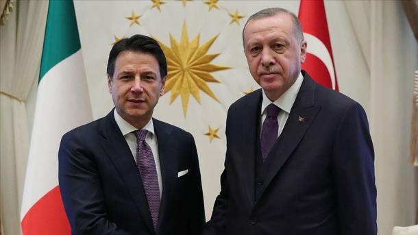 Erdogan dhe Conte bien dakord të vazhdojnë dialogun për një zgjidhje politike në Libi | TRT  Shqip