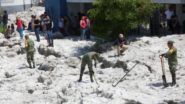 Meksikada metr yarım qalınlıqta boz yawdı | TRT  Tatarça