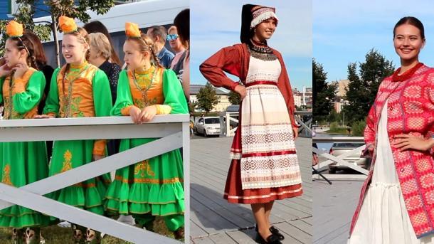 Искe Тaтaр бистәсeндә Милли киeмнәр бәйрәмe / İske Tatar bistäsendä Milli kiyemnär bäyräme | TRT  Tatarça