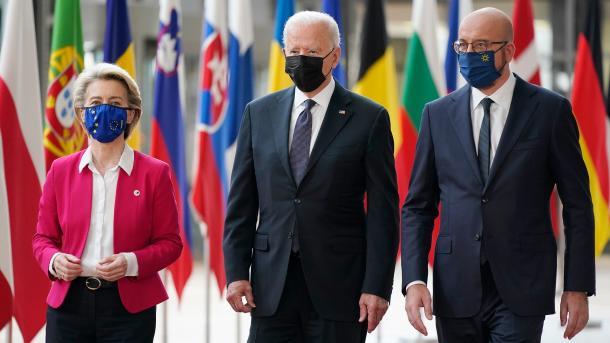 Samiti BE-SHBA – Von der Leyen dhe Michel falënderojnë Biden për vëmendjen ndaj Unionit | TRT  Shqip