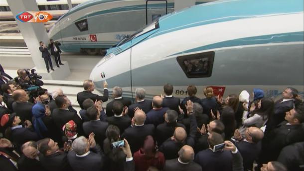 Otvorena nova željeznička stanica za brze vozove u Ankari (VIDEO)