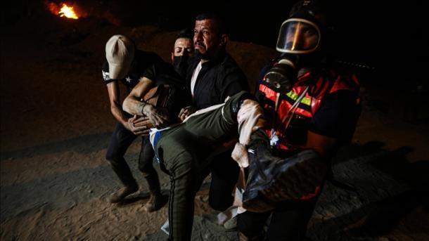 Gaza – 1 palestinez i vrarë dhe 15 të plagosur nga forcat izraelite gjatë protestave paqësore | TRT  Shqip