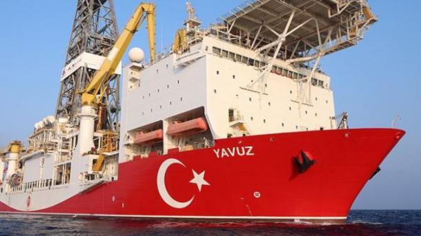 """Anija turke """"Yavuz"""" filloi shpimin në Mesdheun Lindor   TRT  Shqip"""