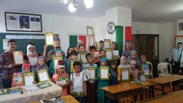 Antaliyada tatar tele däreslärendä soñğı qıñğıraw | TRT  Tatarça