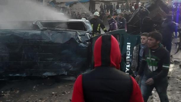 Siri – Sulm terrorist i PKK/YPG-së në Azaz, të paktën 7 të vdekur dhe mbi 20 të plagosur | TRT  Shqip