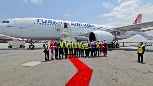 ٹرکش ایئرلائنز (THY) نے انگولا کے دارالحکومت لوانڈا کے لیے اپنی پروازوں کا آغاز کردیا thumbnail