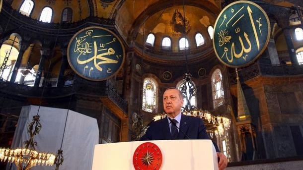 Erdogan: Xhamia e Shën-Sofisë i kaloi Entit të Çështjeve Fetare dhe do të hapet për adhurim   TRT  Shqip