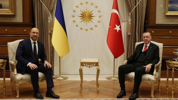 Erdogan priti në takim Kryeministrin e Ukrainës, Denis Shmyhal | TRT  Shqip