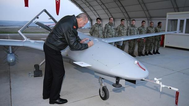 بازدید اردوغان از پایگاه ویژه پهپادها در استان باتمان