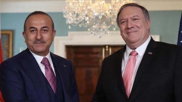 Çavusoglu bisedoi me Pompeo për tërheqjen e terroristëve në Siri | TRT  Shqip
