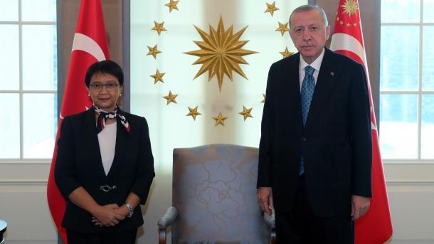 ترکی: صدر ایردوان کی انڈونیشیا کی وزیر خارجہ کے ساتھ ملاقات thumbnail
