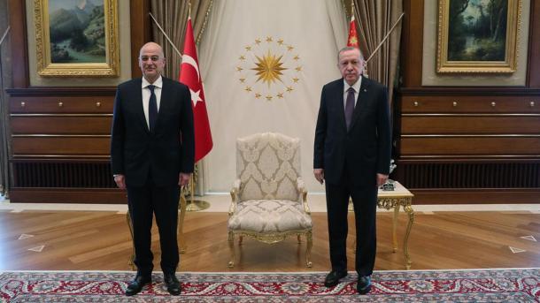 Erdogan priti në takim ministrin e Punëve të Jashtme të Greqisë, Nikos Dendias   TRT  Shqip