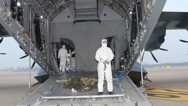 Coronavirus/Rapatriement des Turcs: le géant avion-cargo militaire a décollé de Wuhan