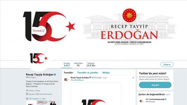 Presidenti Erdogan ndryshon logon në profilin e përdoruesit në Twitter | TRT  Shqip