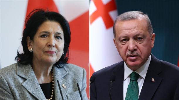 Presidenti Erdoan realizoi një bisedë telefonike me Salome Zurabishvili   TRT  Shqip