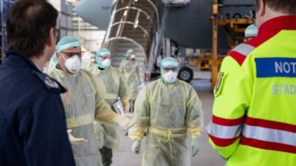 Германия транспортира за лечение италиански пациенти с коронавирус ...