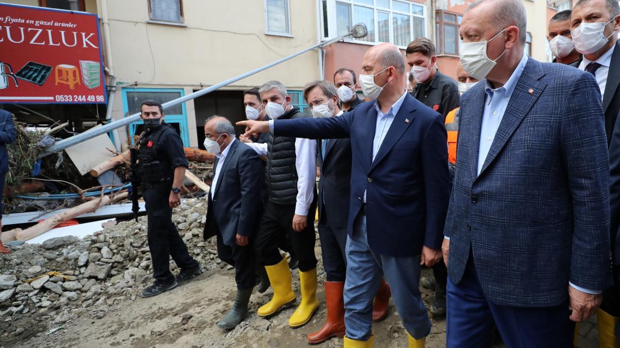 Erdogan posjetio poplavama pogođena područja: Sve štete će biti brzo sanirane